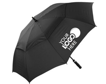 Personalised Custom Printed Golf Umbrella with Vented Canopy - Print Your Logo in 1 colour
