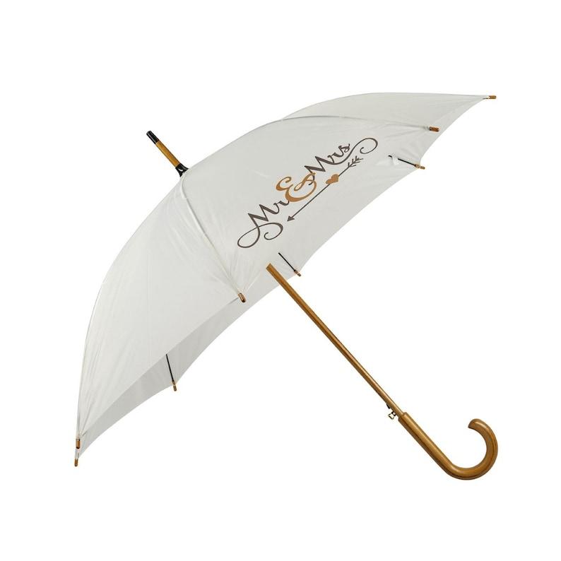 Mr Mrs paraplu voor als het regent op je bruiloft