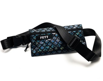 small fanny pack holographic, dark blue, for phone