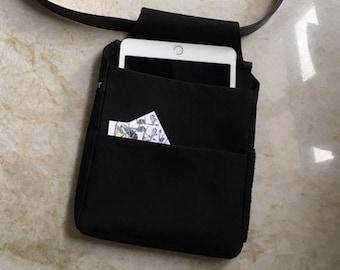 waiter bag for iPad or waiter wallet, holster bag black, individual logo print