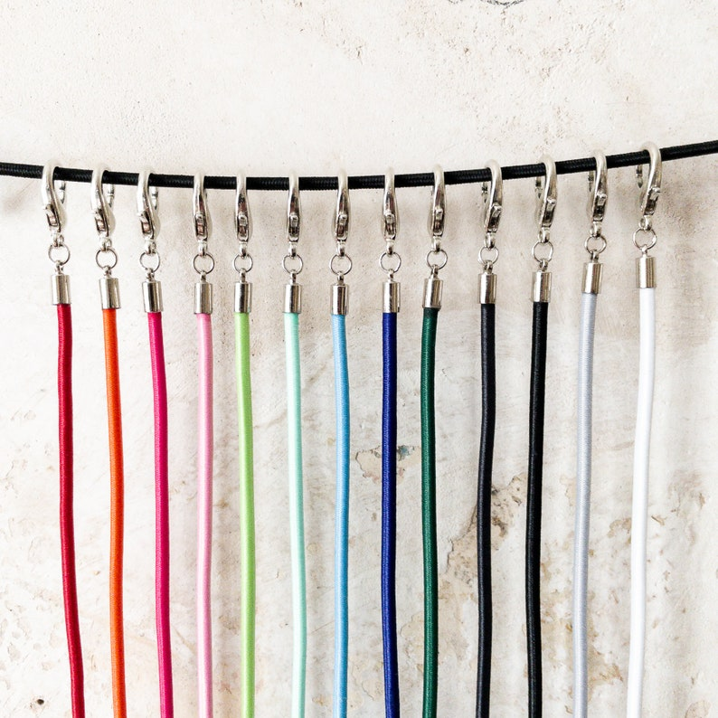 lanyard for face mask elastic mask strap in many colours image 0