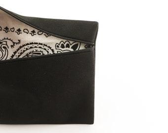 case in black, water-resistant, bandana, for phone, pencils, keys, custom