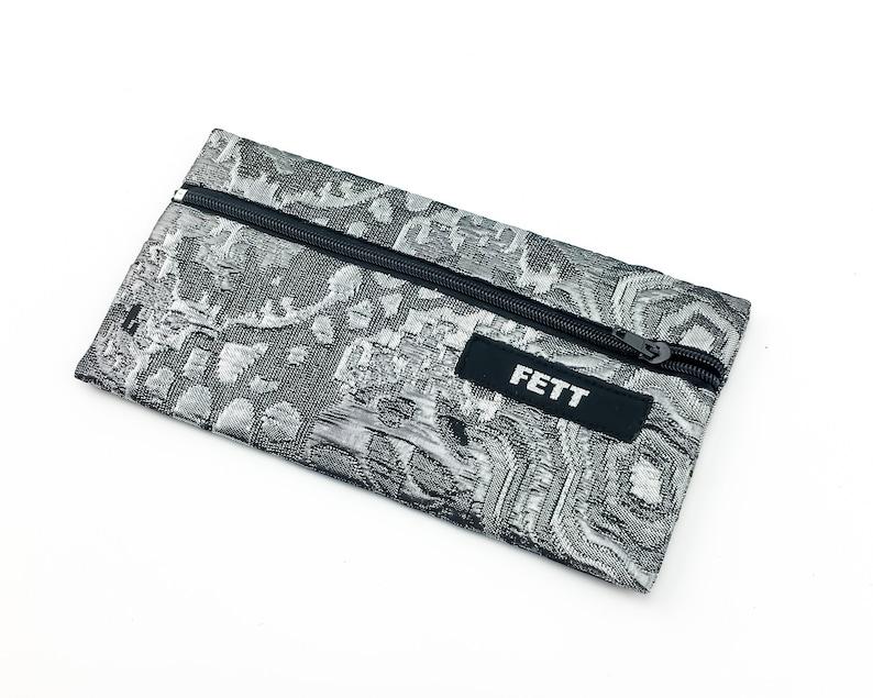 small pencil case brocade silver glitter purse for phone image 0
