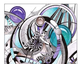 Abstract art, doodle art, zentangle art