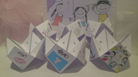 Hen Party Paper Origami Game Dares Challenges Fortune Teller