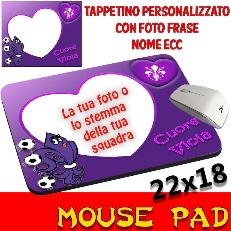 Mousepad Pad Customizable Collection Support team football Juventus Milan Napoli Sampdoria Inter Genoa Torino ecc...