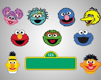 image about Printable Pictures of Sesame Street Characters named Sesame highway Etsy