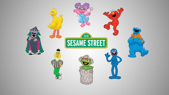 photograph about Printable Sesame Street Characters named Sesame Highway People Decals - Vinyl Decals - SVG document - Sesame road Clipart - Printable - Scalable - Vectorial picture