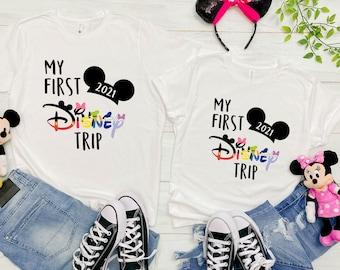 my first disney trip shirt ,disney t shirts,disney family vacation shirts 2021,Disney Matching Shirt, my first trip to disney