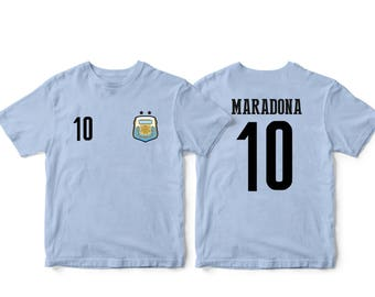 0af7c162a9f Argentina 10 Soccer Football Tee T-Shirt Light Blue all sizes Adults and  Kids Sizes