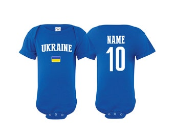 Ukraine Bodysuit Add your Name and Number Infant Clothing Newest Fan Baby  Outfit Girls Boys T shirt -Tee National Team Soccer e27f5c3ea