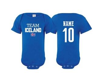 2f61c7b6695 Team Iceland T shirt matching t-shirt set Soccer football Futbol national  Team Men Woman Kids Family Infant Pride Flag