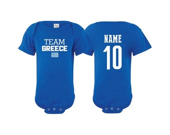 18f755bdf Team Greece T shirt matching t-shirt set Soccer football Futbol national  Team Men Woman Kids Family Infant Pride Flag