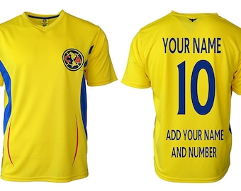 d1aa3cb0a96 Mens Club America Jersey Soccer official licensed T-Shirt all sizes Adults  Personalized Your Name and Number Aguilas del America Mexico