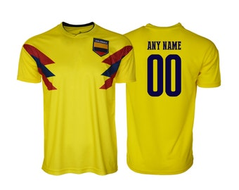 29579c11fd4 Colombia Football Tee T-Shirt all sizes Adults and Kids Sizes Flag Jersey  Pride Personalized Your Name