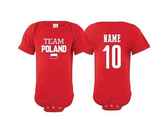 22054d4b00a Team Poland T shirt matching t-shirt set Soccer football Futbol national  Team Men Woman Kids Family Infant Pride Flag