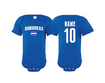 d1d9daffa Honduras Bodysuit Add your Name and Number Infant Clothing Newest Fan  Bodysuit Soccer Baby Outfit Girls Boys T shirt - Tee National Team