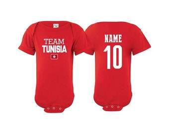 5e854452365 Team Tunisia T shirt matching t-shirt set Soccer football Futbol national  Team Men Woman Kids Family Infant Pride Flag