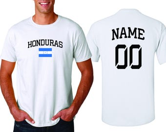 2c89cc31e Honduras Sports T-shirt Fan Country Pride Men s Tee Customized Name and  Number