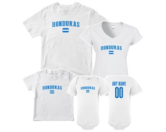 e12bb2475 Honduras T shirt matching t-shirt set Soccer football Futbol national Team  Men Woman Kids Family Infant Pride Flag
