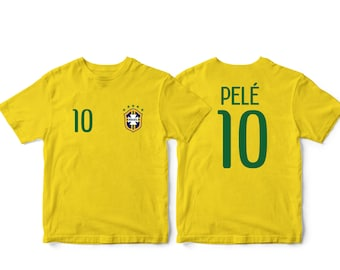 53938b4e Brazil 10 Brasil Soccer Football Tee T-Shirt Yellow all sizes Adults and  Kids Sizes