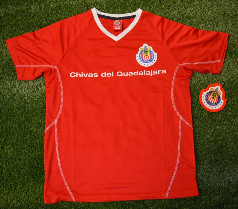 hot sale online 07b4d 9939a Mens Chivas Rayadas de Guadalajara Jersey Soccer official licensed T-Shirt  all sizes Adults Personalized Your Name and Number Mexico