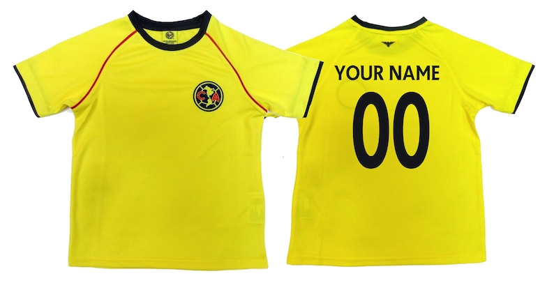 reputable site 43348 33956 Youth Club America Jersey Soccer official licensed T-Shirt all sizes Kids  Personalized Your Name and Number Aguilas del America Mexico