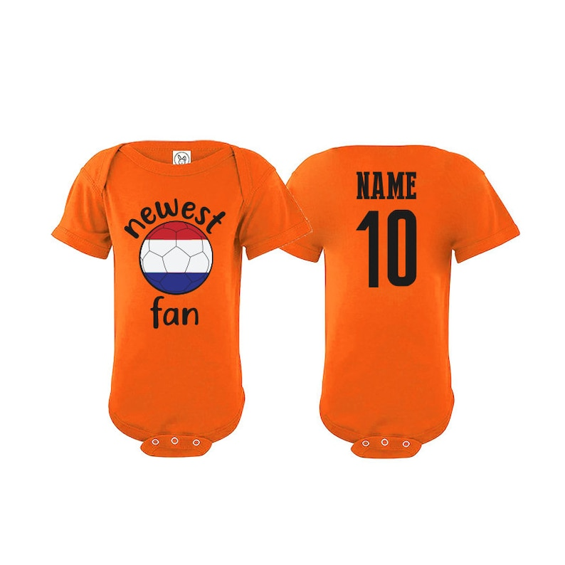 Tee National Team Netherlands Bodysuit Holland Add your Name and Number Infant Clothing  Newest Fan  Soccer Baby Outfit  Girls Boys T shirt