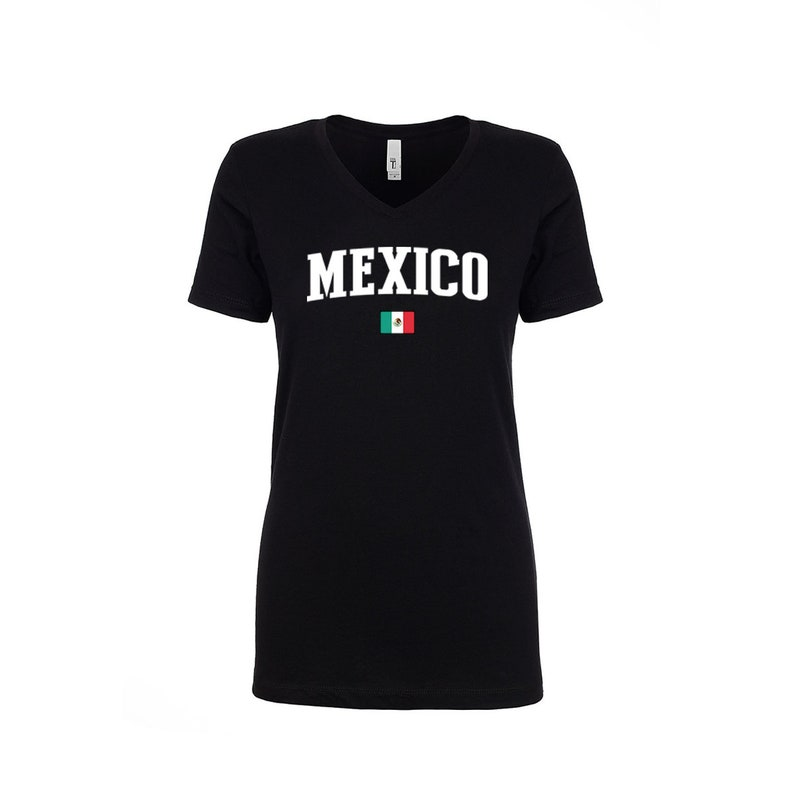 184afaefc Mexico V Neck T Shirts Women Lady 100% cotton tee Any Sports   Etsy