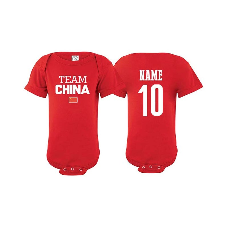 official photos 34b9b 638d7 Team China T shirt matching t-shirt set Soccer football Futbol national  Team Men Woman Kids Family Infant Pride Flag