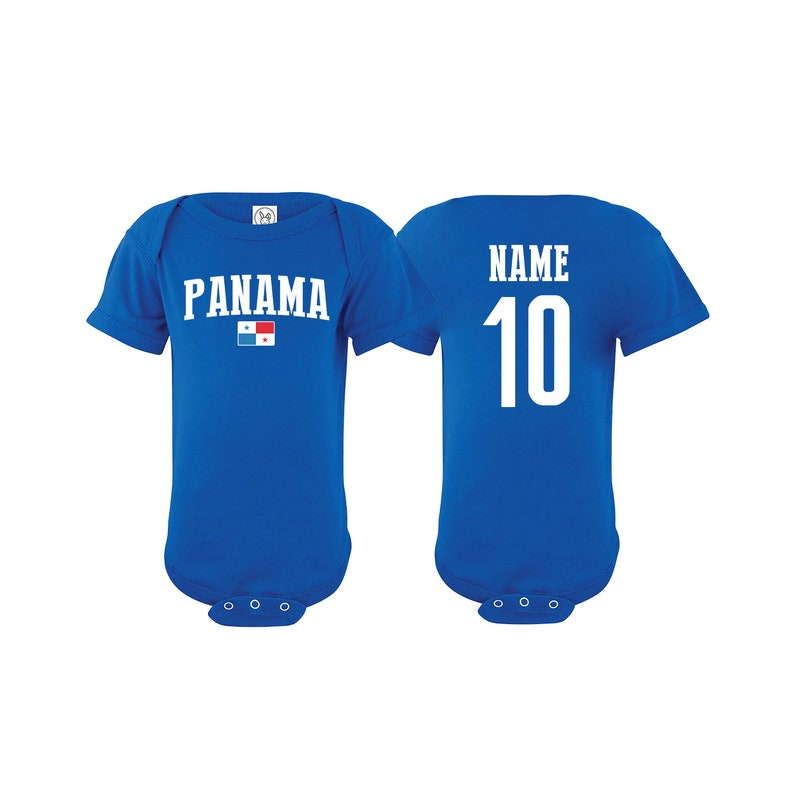 sale retailer e34aa bee3d Panama Bodysuit Add your Name and Number Infant Clothing Newest Fan  Bodysuit Soccer Baby Outfit Girls Boys T shirt - Tee National Team