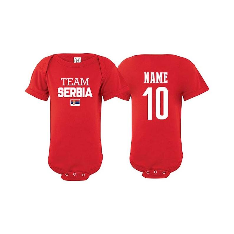 8b941e3d3 Team Serbia T shirt matching t-shirt set Soccer football