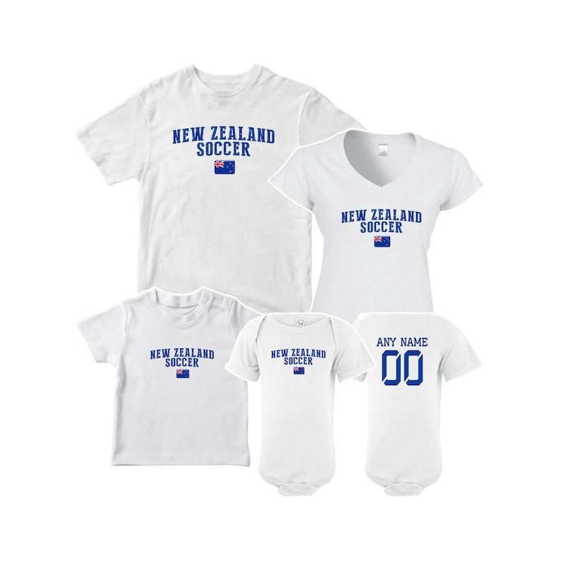 1e8ffe5fe New Zealand T shirt matching t-shirt set Soccer football