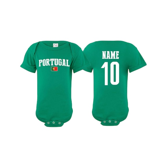 Portugal Newest Fan Bodysuit Soccer Baby Outfit Mameluco Infant Girls Boys