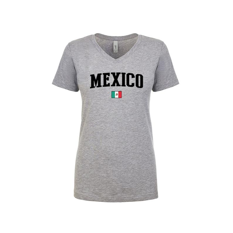 184afaefc Mexico V Neck T Shirts Women Lady 100% cotton tee Any Sports | Etsy