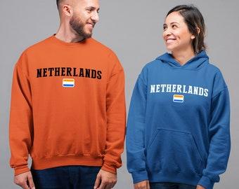 Netherlands Flag Hoodie Sweatshirt - Adult & Youth Sizes - Netherlands National Team Pride, Custom Hoodie Gift