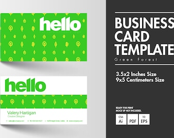Business Card - Green Forest