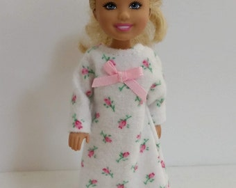 """11 1//2/""""  Doll Clothing  Pink Robe and white nightgown set"""