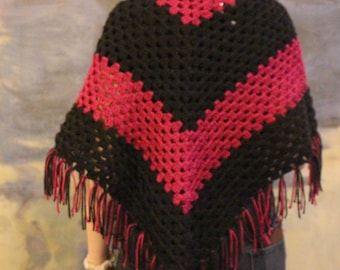 Berry and Black Shawl