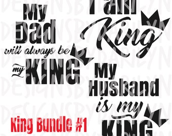 My Husband Is My King Svgpdfdxf Etsy