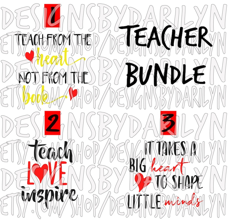 Teach Love Inspire, It takes a big heart to shape little minds, Teach from  the heart not from the book SVG/DXF