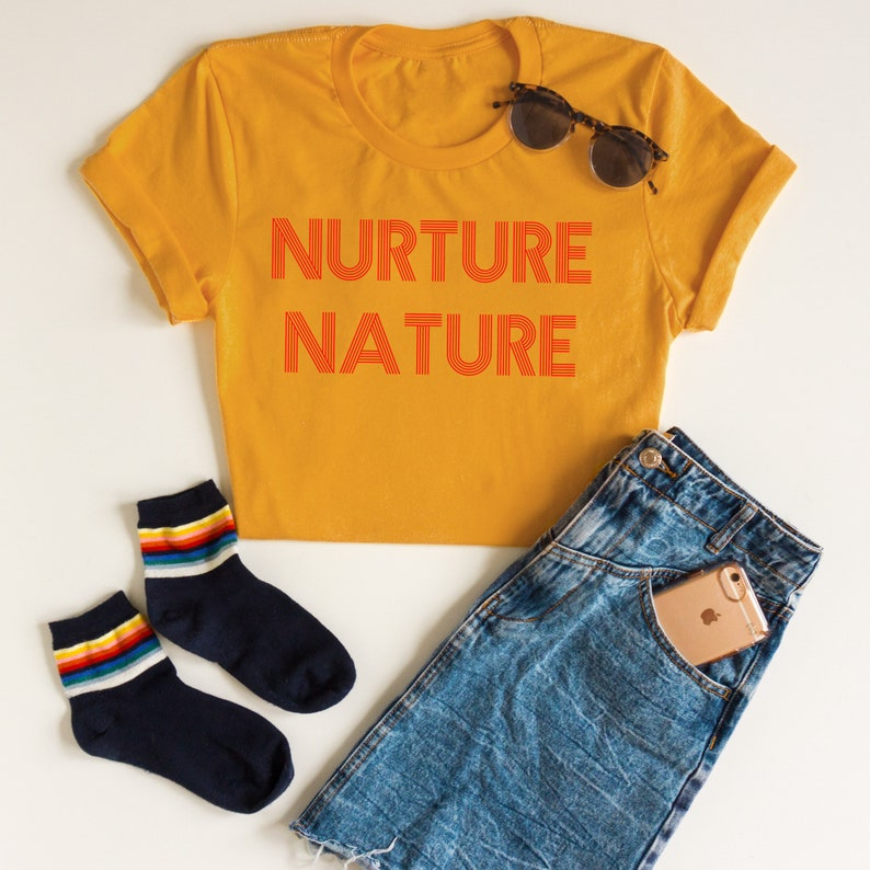 d3369f206 Nurture Nature Graphic Tee Nature Shirt Nature Lover Gift   Etsy