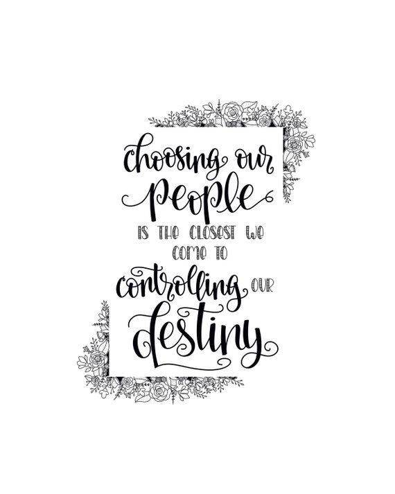 Choose Your Destiny - My Person - This Is Us Quote - You\'re My Person -  Best Friend Gift - Hand Lettered Art - Mothers Day Gift