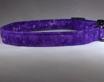 Dog Collar - Purple Glitter