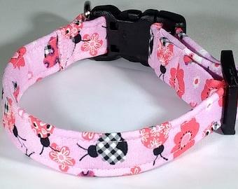 Dog Collar - Ladybug Pink