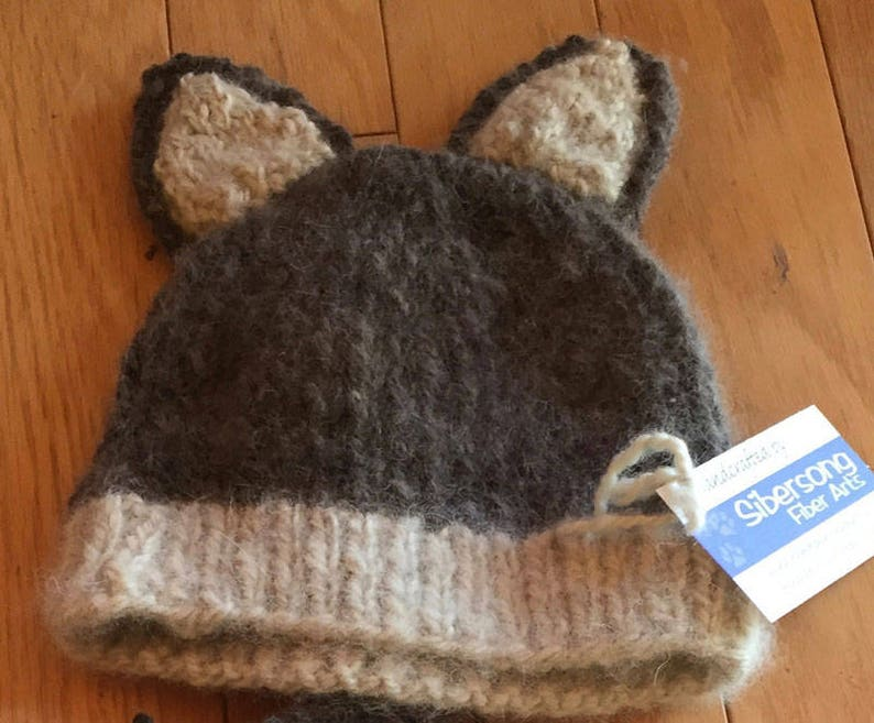 Husky/Wolf Ear Knit Hat image 0