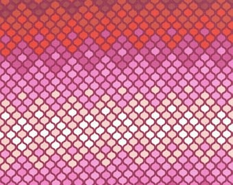 Tula Pink Eden mosaic red fq fabric oop vhtf rare 46x54cm