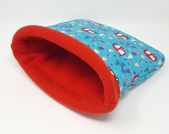 Snuggle sack \ Guinea pig \ Small pets \ bedding \ pouch \ Fleece and Cotton