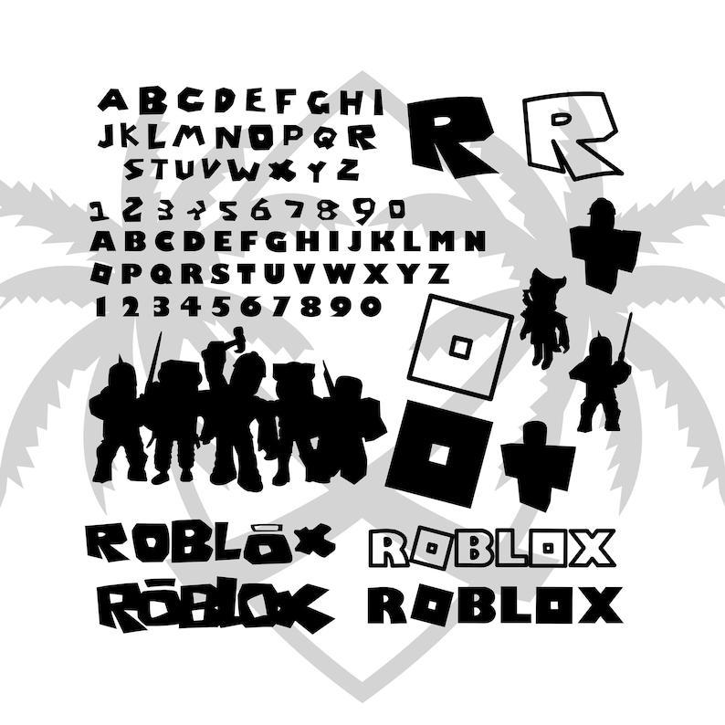 Roblox svg Bundle Pack 2 Different Roblox Font Alphabet Etsy