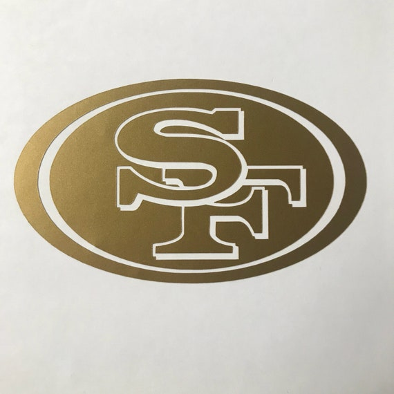 San Francisco Forty Niners Vinyl Decal Etsy